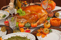 Thanksgiving turkey green beans and mashed potatoes Royalty Free Stock Photos