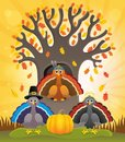 Thanksgiving turkeys thematic image 2 Royalty Free Stock Photo