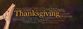 Thanksgiving Word Cloud Website Banner Royalty Free Stock Photo