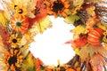 Thanksgiving wreath Royalty Free Stock Photo