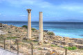 Tharros in hdr columns tone Royalty Free Stock Photography