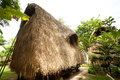 Thatch roof bungalow at tropical resort lembongan island indonesia Royalty Free Stock Photography