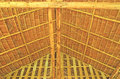 Thatch roof structure from and wood Royalty Free Stock Image