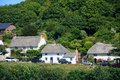 Thatched cottages, Lulworth Cove. Royalty Free Stock Photo