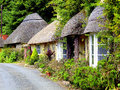 Thatched cottages, South Devon. Stock Images
