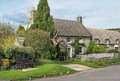 Thatched English Village Cottages Royalty Free Stock Photography