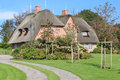Thatched house in Sylt, Germany Royalty Free Stock Photo