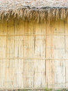 Thatched roof and bamboo wall close up of the country hut Stock Image