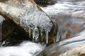 Thaw melting ice spring and stream Royalty Free Stock Image