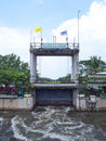 Thawi Watthana floodgate Stock Photos