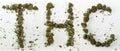 THC Spelled With Marijuana Royalty Free Stock Photo