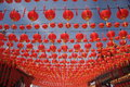 Thean hou temple a colorfull lantern hanging at Royalty Free Stock Images
