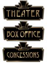 Art Deco Theater Box Office Sign Plaque