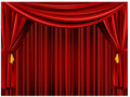 Theater curtain background Royalty Free Stock Image