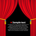 Theater curtain background. Vector Royalty Free Stock Photo
