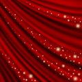 Theater curtain mesh red clipping mask Royalty Free Stock Photo