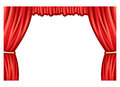 Theater curtain red to stage Royalty Free Stock Image