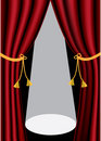 Theater curtains Royalty Free Stock Photo