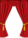 Theater curtains with drapes Stock Photo