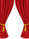 Theater curtains isolated on white background Royalty Free Stock Photography
