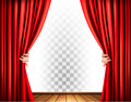 Theater curtains with a transparent background. Royalty Free Stock Photo