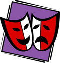 Theater Drama Masks Vector Ill...