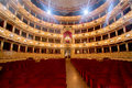 Theater,  interior view, arena and balconies Royalty Free Stock Photo