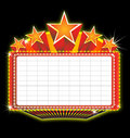 Theater marquee sign Royalty Free Stock Image
