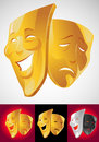Theater masks Royalty Free Stock Images