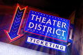 Theater neon sign Royalty Free Stock Photo