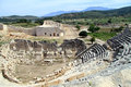 Theater and odeon ruins of in patara turkey Royalty Free Stock Photos