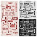Theater posters vector set of three with wording connected to Royalty Free Stock Photography