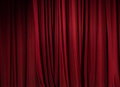Theater red curtain background Royalty Free Stock Photo