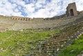 Theater Ruins in Pergamon, Turkey Royalty Free Stock Photos