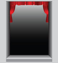 Theater scene theatrical with red curtains short vector illustration Stock Photography