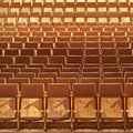 Theater seats brown front side Royalty Free Stock Images