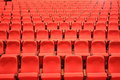 Theater seats red abstract background Stock Photography
