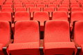 Theater seats red abstract background Stock Photo