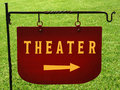 Theater Sign Royalty Free Stock Photo