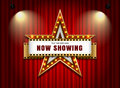 Theater sign star with spotlight Royalty Free Stock Photo