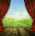 Theater stage nature background Royalty Free Stock Photos