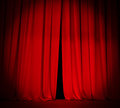 Theater stage red curtain with spotlight background Royalty Free Stock Photo