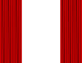 Theater stage with red curtain white background Stock Images