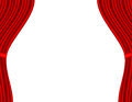 Theater stage with red curtain white background this is file of eps format Royalty Free Stock Photo