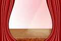A theater stage with red curtains and spotlight Royalty Free Stock Photography