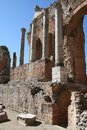 Theater of Taormina, Italy Royalty Free Stock Image