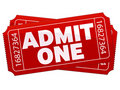 Theater Tickets Royalty Free Stock Photo