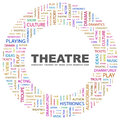 Theatre concept illustration graphic tag collection wordcloud collage Stock Photos