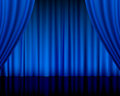 Theatre curtain blue Royalty Free Stock Photo
