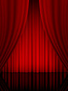 Theatre curtain vertical close view of a red Royalty Free Stock Photo
